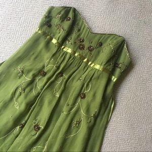 Laundry by Shelli Segal Olive Long Dress Stunning